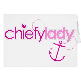 Chiefy Lady Greeting Card