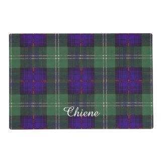 Chiene clan Plaid Scottish kilt tartan Laminated Place Mat