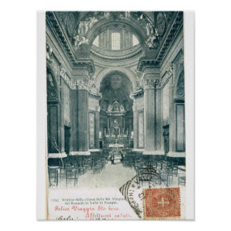Chiesa Vergina della rosario, Valle di Pompei Poster