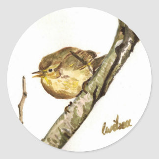 Chiffchaff badge classic round sticker