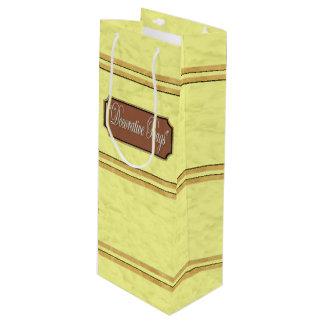 Chiffon Gold Lines Wine Gift Bag
