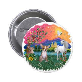 Chihuahua 1 6 cm round badge