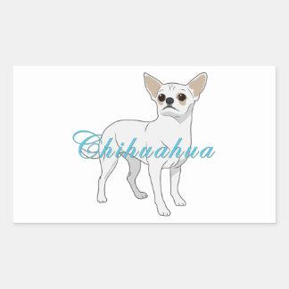 Chihuahua 3 rectangular stickers