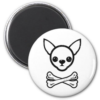 Chihuahua and bones (editable) magnet