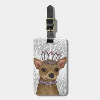 Chihuahua And Tiara Luggage Tag
