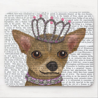 Chihuahua And Tiara Mouse Pad