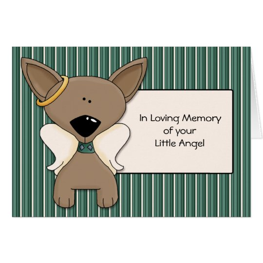 Chihuahua Angel Dogs Sympathy Card Personalise