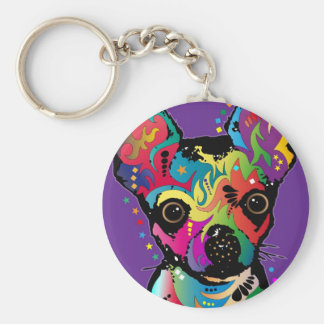 Chihuahua Art Key Ring