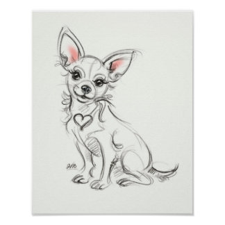 Chihuahua Art print | Quick sketch