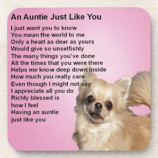 Chihuahua  Auntie Poem Beverage Coaster