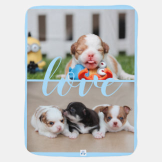Chihuahua Blue Baby Blanket