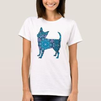 Chihuahua, Blue Bohemian Snowflake Design T-Shirt