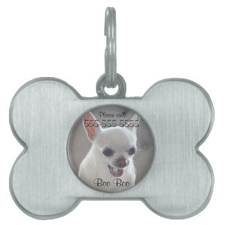 Chihuahua Bone Pet Tag Add Photo
