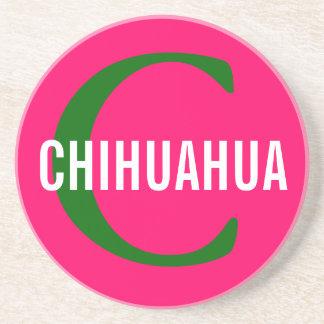 Chihuahua Breed Monogram Design Coasters