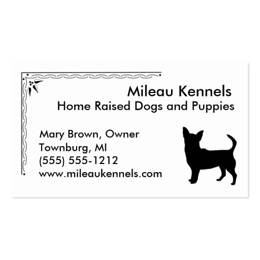 Chihuahua Business Cards