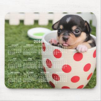 Chihuahua Calendar 2018 Custom Mouse Pad