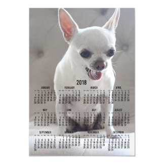Chihuahua Calendar 2018 Magnetic Photo Card 5x7