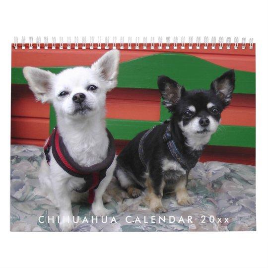 Chihuahua Calendar 2018 Personalised Add Photo