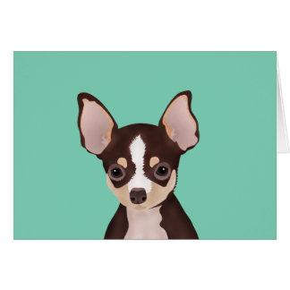 Chihuahua cartoon card