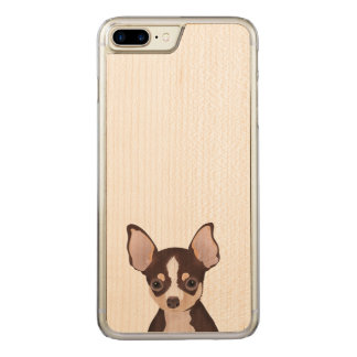 Chihuahua cartoon carved iPhone 8 plus/7 plus case