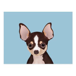 Chihuahua cartoon postcard