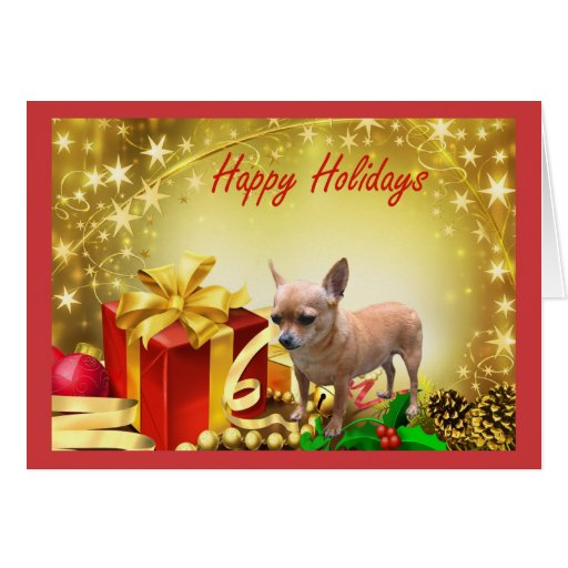 Christmas Toys Cards : Chihuahua christmas card holiday gifts zazzle