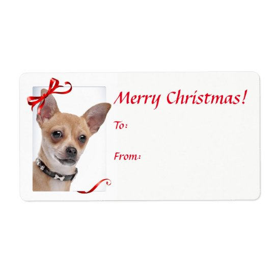 Chihuahua Christmas Gift Stickers