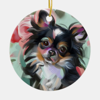 Chihuahua Christmas Ornament | Holidays, floral