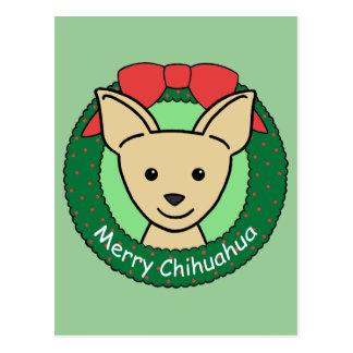 Chihuahua Christmas Postcard
