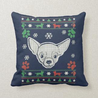 Chihuahua - Christmas Sweater Cushion