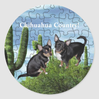 Chihuahua Country 1 Round Sticker
