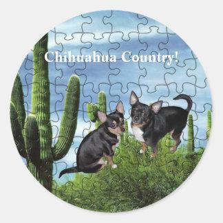 Chihuahua Country 1 Round Sticker