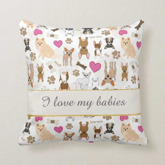 Chihuahua Cute Silly Dog Pattern Personalised Cushion