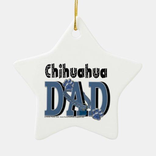 Chihuahua DAD Christmas Tree Ornament