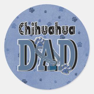 Chihuahua DAD Round Sticker