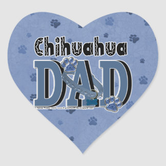 Chihuahua DAD Heart Sticker