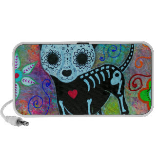 CHIHUAHUA DAY OF THE DEAD PERRO PORTABLE SPEAKERS