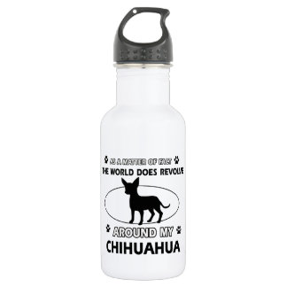 Chihuahua design 532 ml water bottle