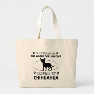 Chihuahua design large tote bag