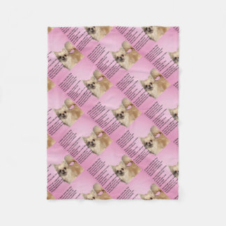 chihuahua Design - Mum Poem Fleece Blanket