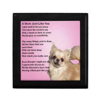 chihuahua Design - Mum Poem Gift Box