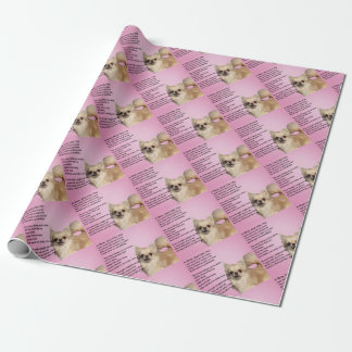 chihuahua Design - Mum Poem Wrapping Paper