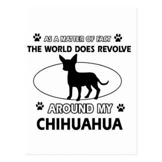 Chihuahua design postcard