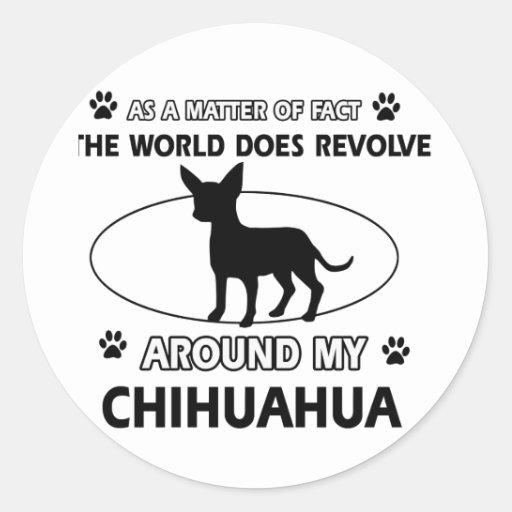 Chihuahua design round sticker
