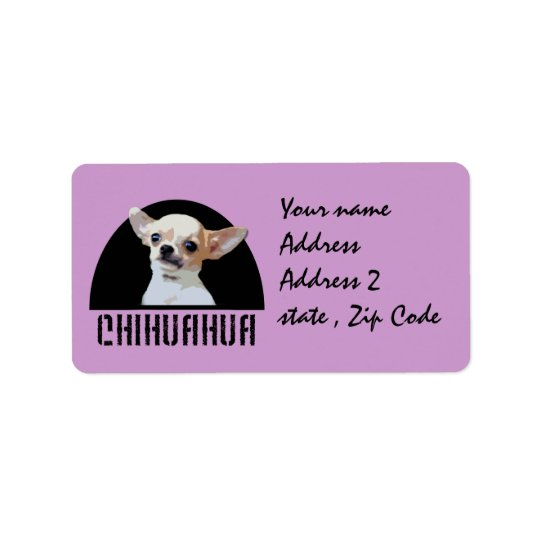 Chihuahua dog address label