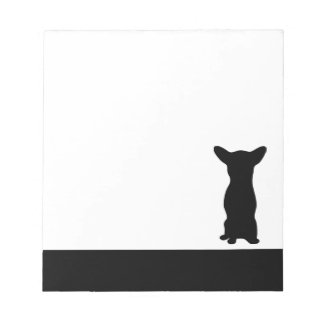 Chihuahua dog black silhouette notepad