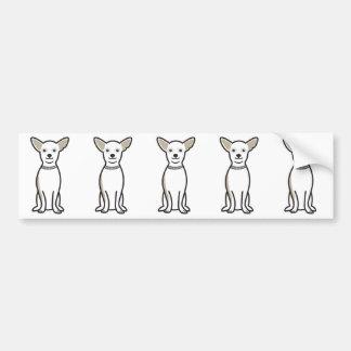 Chihuahua Dog Cartoon Bumper Sticker
