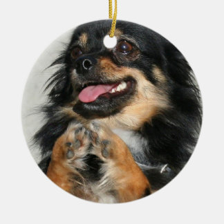 Chihuahua dog christmas ornament