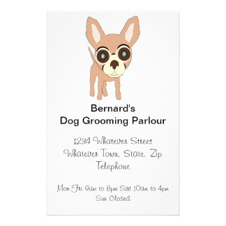 Chihuahua Dog Grooming Parlour 14 Cm X 21.5 Cm Flyer