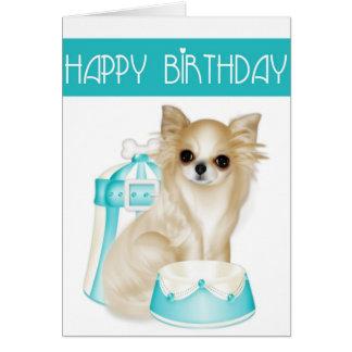 Chihuahua Dog Happy Birthday Greeting Card